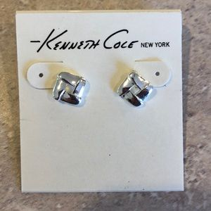 Kenneth Cole Silver Square Earrings